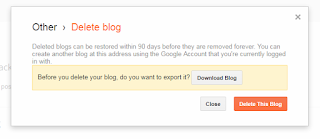 delete blogspot