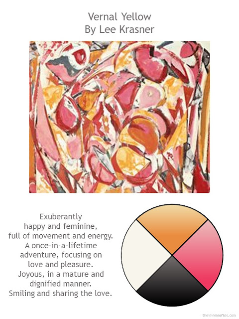 Vernal Yellow by Lee Krasner with style notes and color palette