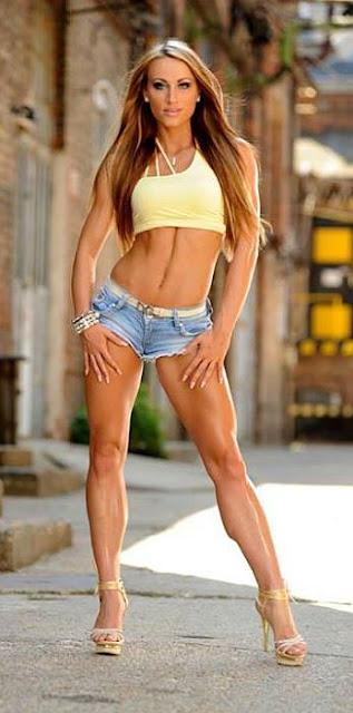 Dia Salamon-beautiful fitness models