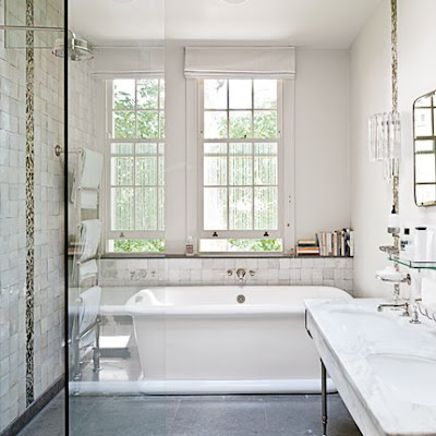 French style bathroom design white marble