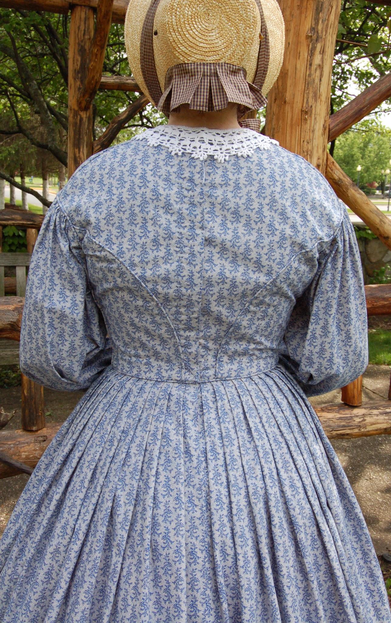 Dolly Creates: Civil War Series • Blue Floral Day Dress