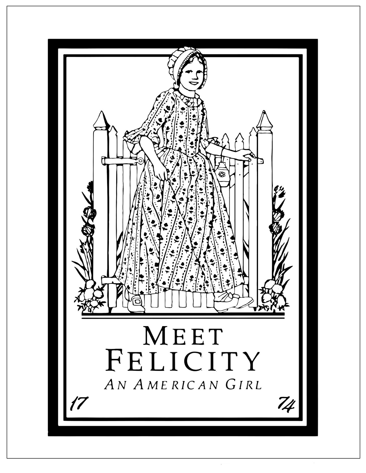 American Girl Doll Coloring Pages – coloring.rocks! | 1600x1237