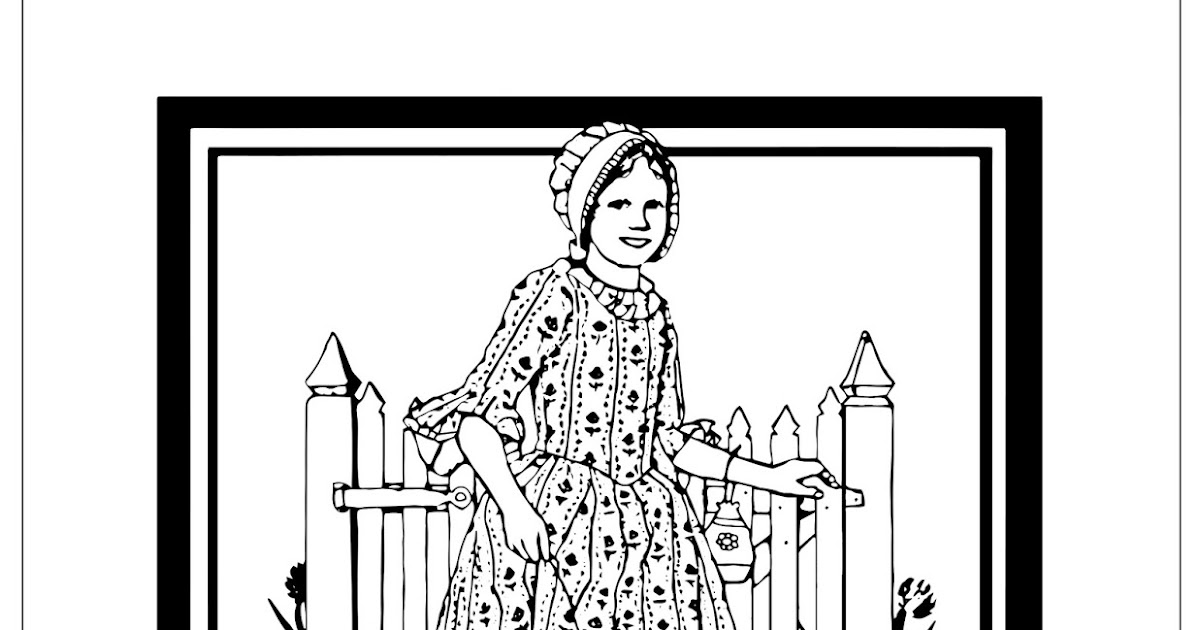 - My Cup Overflows: American Girl Coloring Pages: Felicity