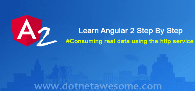 Consuming real data using the http service in angular 2