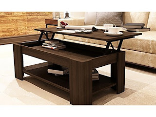 DEALS COFFE TABLE £54.91 Caspian Lift Top Coffee Table with Storage & Shelf @ AMAZON