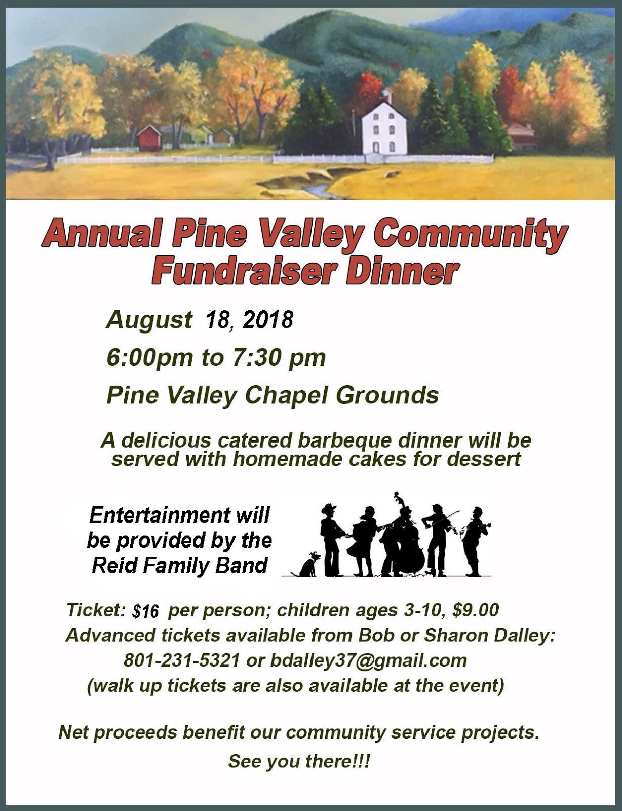 pine valley blog annual pine valley community fundraiser dinner