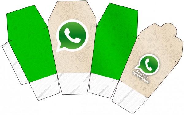 "Caja tipo ""de comida china""de WhatsApp."