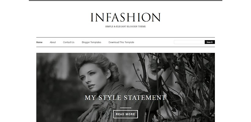 iNFashion Free Blogger Template