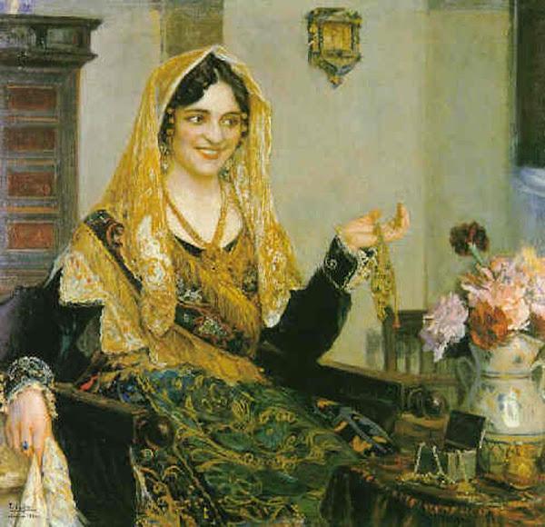 Teodoro Andreu y Sentamans,  Pintor Valenciano, Pintura Costumbrista Valenciana, Pintura Valenciana, Valencianas en pintura