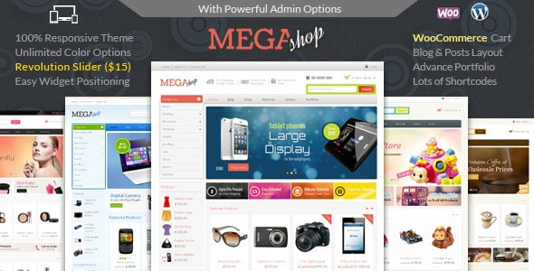 WordPress Ecommerce Themes - Mega Shop