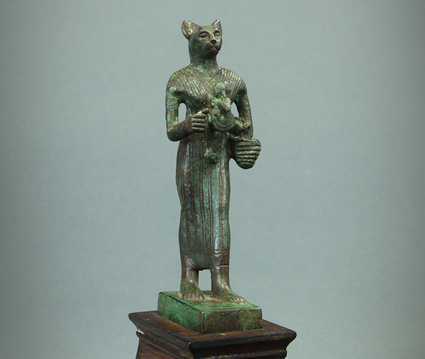 Bowers Museum - EasyBlog - Bronze Figure of Egyptian Goddess Bastet