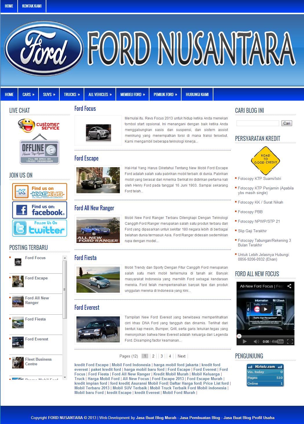 Jasa Pembuatan Blog Dealer Mobil
