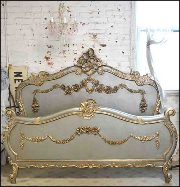 French Bed   Marie Antoinette bedroom ideas - luxury bedding -  luxury curtains - Marie antoinette bedroom furniture - Marie Antoinette Style theme decorating ideas - French provincial furniture baroque style - Louis XVI furniture - Rococo furniture - baroque furniture -  luxury dining - luxury furniture - luxury living