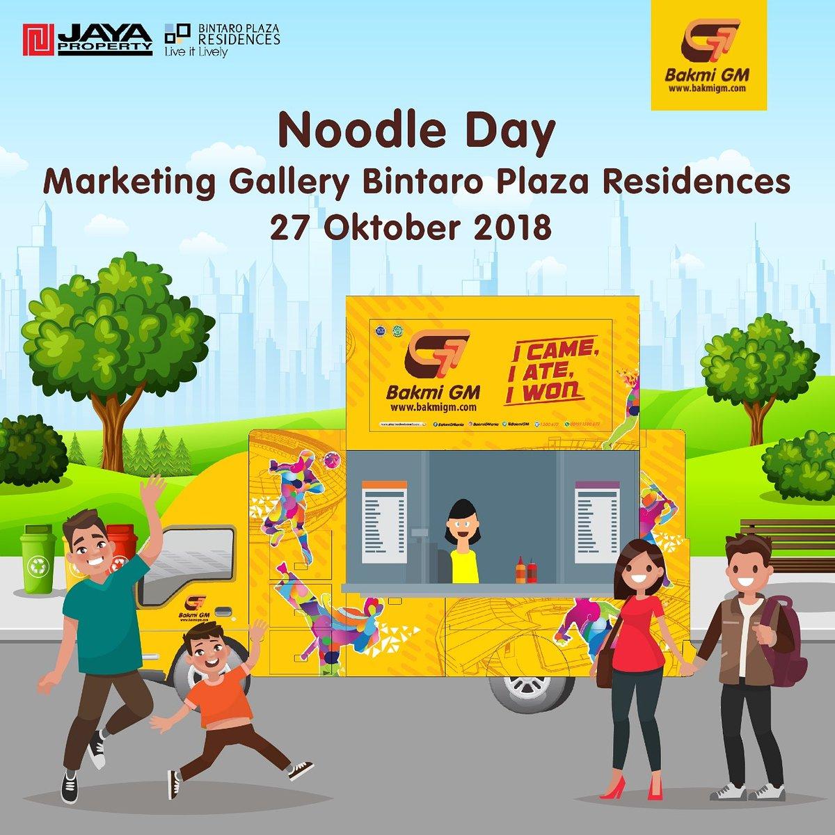 BakmiGM - Promo Event Noodle Day di Bintaro Plaza Residences (27 Otk 2018)