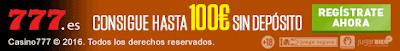 Casino777 Bono gratis de 100€