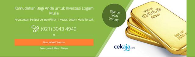 Investasi Logam Mulia (Emas) di CekAja.com