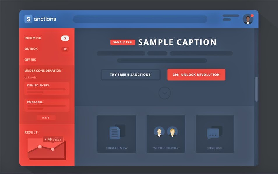 Free Sanctions GUI PSD Dashboard