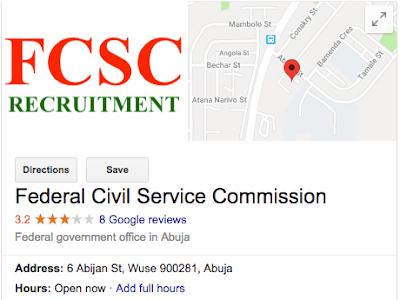New FCSC 2018/2019 Portal www.fcsc.gov:ng / Application Guide & Requirements