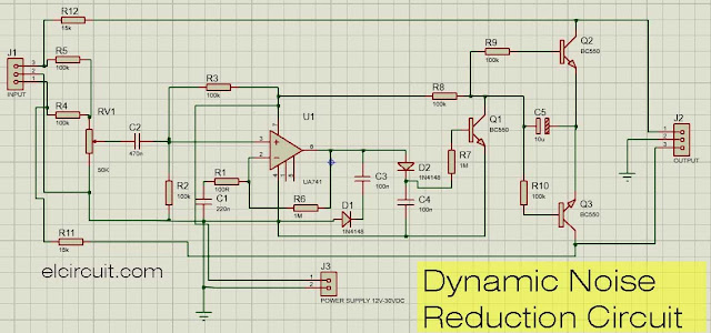 Dynamic Noise Reduction Circuit Diagram 741, TL074, 4558