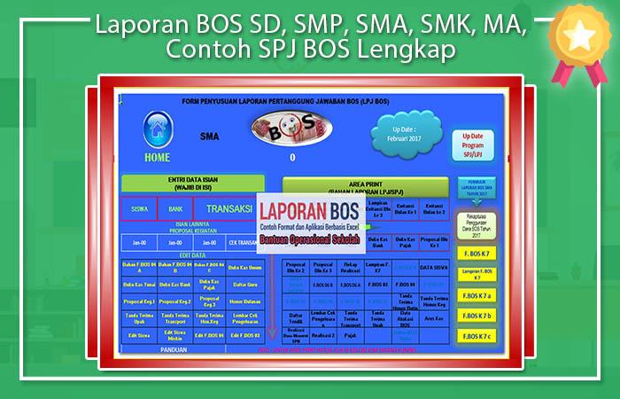 Laporan BOS SD, SMP, SMA, SMK, MA, Contoh SPJ BOS Lengkap