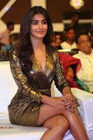 Pooja Hegde looks glamarous in deep neck sleevless short tight golden gown at Duvvada Jagannadham thank you meet function 026.JPG