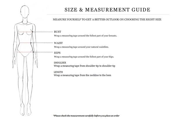 cara mengukur pakaian wanita