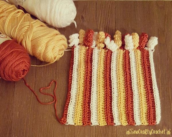 Candy Corn Messy Bun Beanie - Sew Crafty Crochet d3ef870eddd
