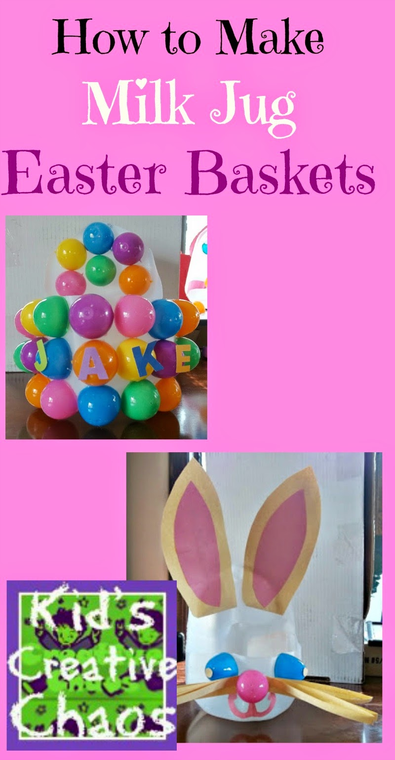 How to make an Easter basket from a milk jug.