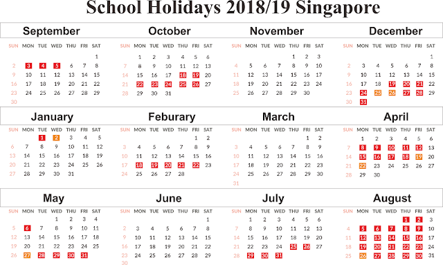 Get Free Singapore School Holidays 2019
