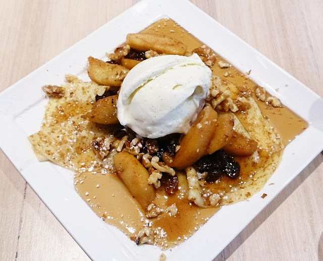 Damon Bradley, Southgate, apple, walnut, crepes