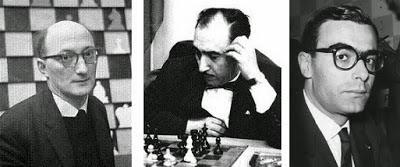 Los ajedrecistas Van Scheltinga, Jaume Lladó y Alberto M. Giustolisi