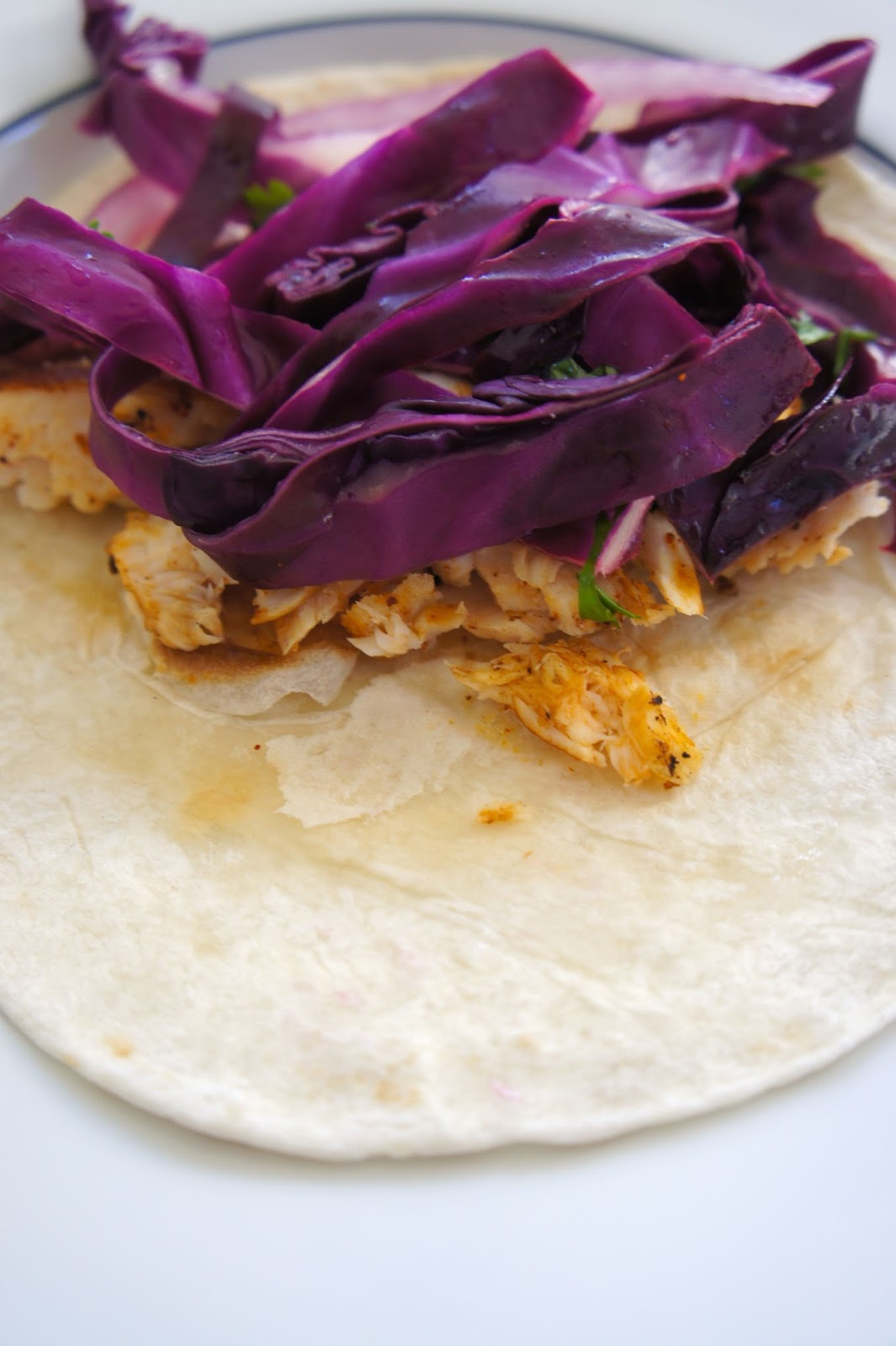 Savory sweet and satisfying fish tacos with lime cabbage slaw for Fish tacos cabbage