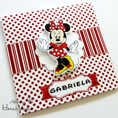 convite personalizado infantil artesanal aniversário minnie mouse vermelho poá menina disney mickey