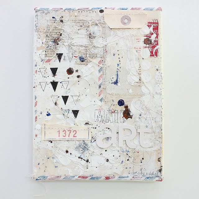 Mixed Media Leinwand | Mail Art | Janna Werner