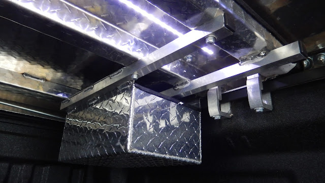 LED lighting, truck lights, tool box, bed cover, mounting, clamps
