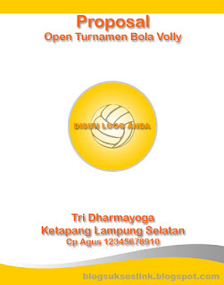Contoh Cover Proposal Bola Volly