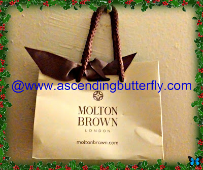 Molton Brown Gift Bag Sniffapalooza Event December 2013 New York City Midtown East Retail Store