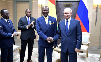 Vladimir Putin held a meeting with President of the Republic of Guinea and Chairperson of the African Union Alpha Conde in Moscow.