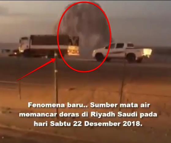 Allahu Akbar! Fenomena Baru, Air Aneh Memancar Deras Riyadh Sabtu 22 Desember