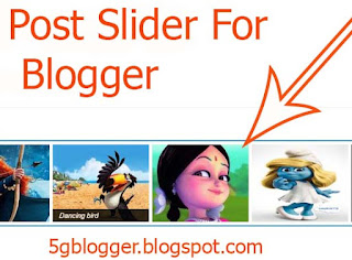 feature post slider for blogger