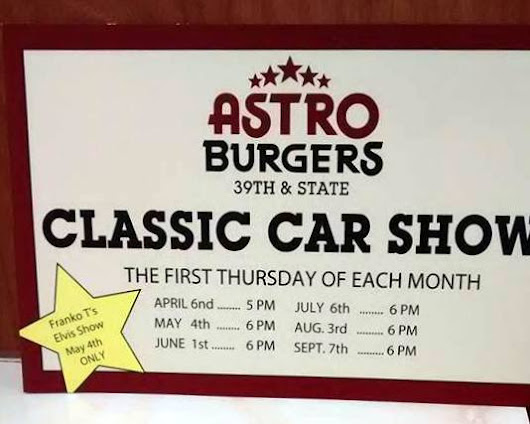 2017 Astro Burger Classic Car Show May 4th