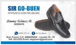 Tarjetas de visita calzado de hombre