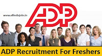 ADP Job Openings in Hyderabad