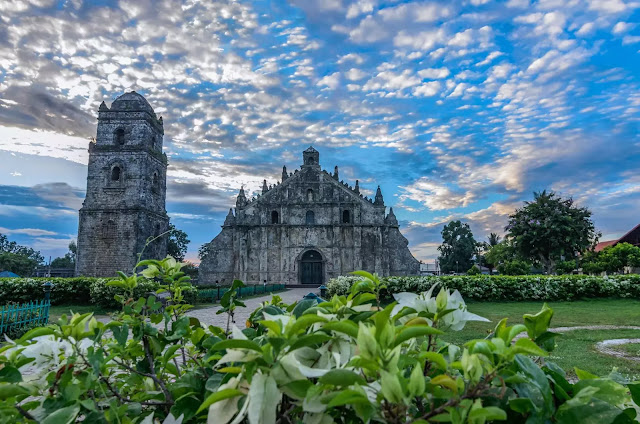 One Saint Augustine Church Dawn (Spanish Iglesia de San Agustín de Paoay), commonly known as the Paoay Church Ilocos Norte Philippines