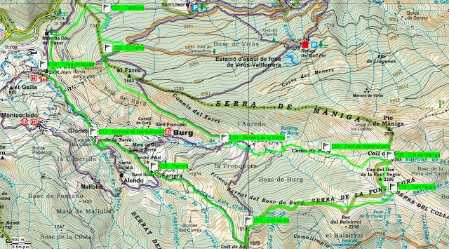 Mapa mitja marató