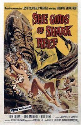 Póster película La diosa tiburón