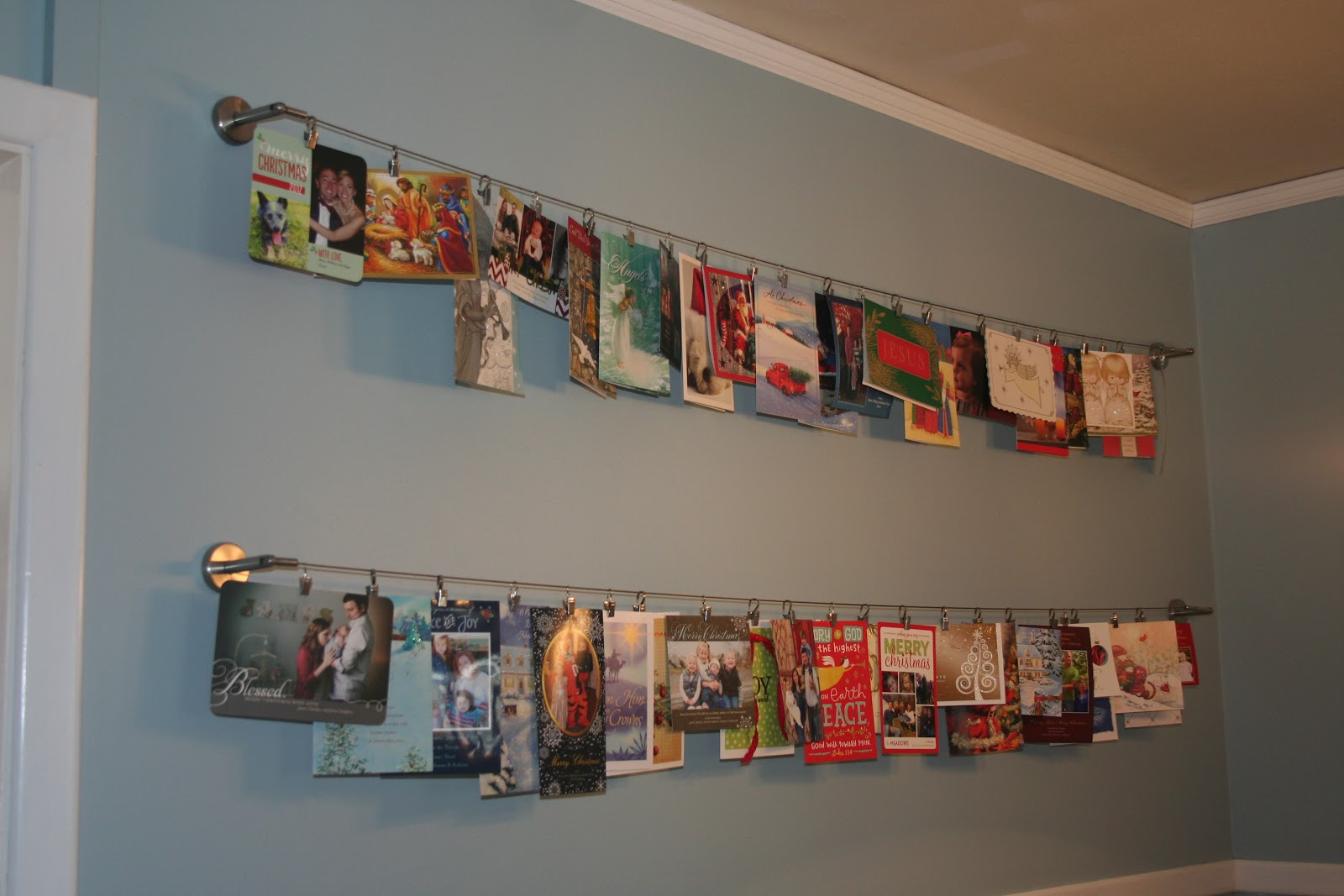 How To Hang Christmas Cards - House Beautiful - House Beautiful
