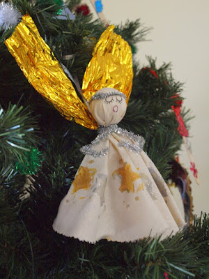 Calico Christmas Angel Craft For Kids