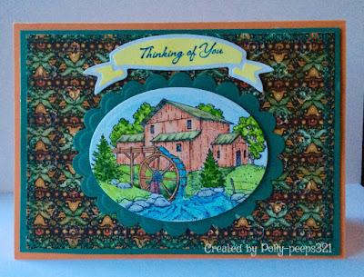 ODBD Living Water, NCC Deer Silhouette Greetings, Card Created by Polly aka peeps321