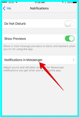 how to turn off facebook messenger sounds on iphone
